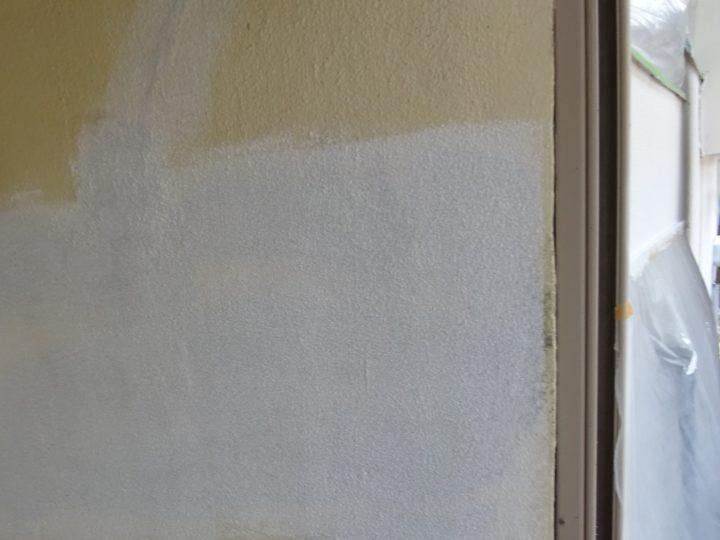 下塗り途中