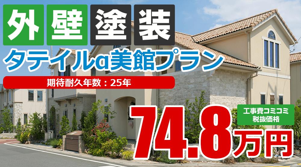 タテイルα美館塗装 74.8万円(税込82.28万円)